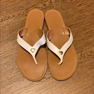 COACH LEATHER SANDALS WITH HEART ❤️ ACCENT